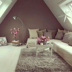 cozy attic space....
