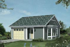 House Plan 57-397 27x27 421 sq ft garage, alcove porch