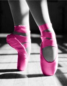 pink pointe shoes
