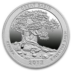 2013 P+D+S Great Basin Nevada Quarter Dollar Mint Proof Set ~ National Parks