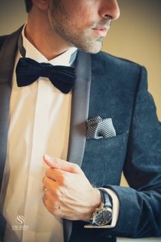 so handsome! #bowtie #suit #mensfashion
