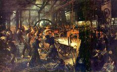 Adolph Menzel : La forge, 1872-1875