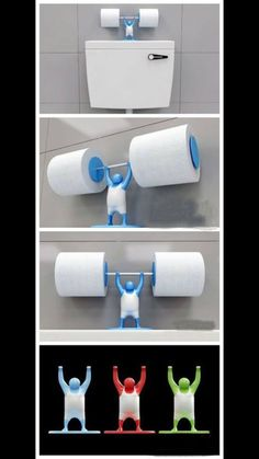 Above the toilet - toilet paper holder