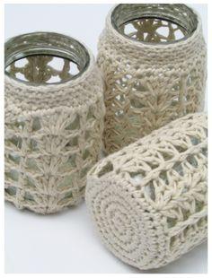 Ravelry cordeliaserene s crochet jar cover – Artofit Crochet Home, Free Crochet, Knit Crochet, Jar Crafts, Diy And Crafts, Crochet Jar Covers, Mason Jar Cozy, Knitting Patterns, Crochet Patterns