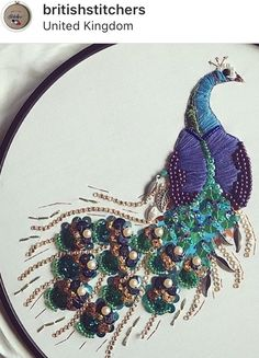 Embroidery 3d, Bead Embroidery Patterns, Peacocks, Beads, Jewelry, Boy Doll, Crafts, Manualidades, Needlepoint