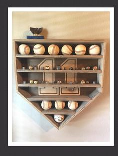 Your place to buy and sell all things handmade 2 REGALE RING Heringe & Baseball Display Rack Baseball Trophies, Baseball Display, Baseball Crafts, Baseball Kids, Baseball Stuff, Funny Baseball, Baseball Pitching, Baseball Socks, Decor Room