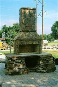 outdoor stone grill / pizza oven