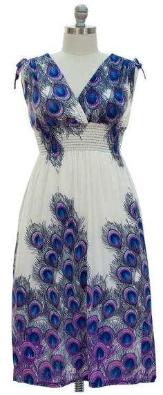 NWT Plus sz. Shoulder Ties Maxi Dress-White Peacock .01 Cent  SUMMER SALE BID 2X