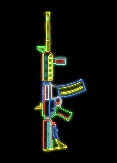 Custom digital neon rendering of an rifle. Graffiti Wallpaper Iphone, Game Wallpaper Iphone, 4k Wallpaper For Mobile, Hd Wallpaper Android, Purple Wallpaper Iphone, Phone Wallpaper Images, Mobile Legend Wallpaper, Gaming Wallpapers, Neon Light Wallpaper