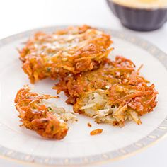 Our latkes are light and buttery, surrounded by a shatteringly crisp outer shell.