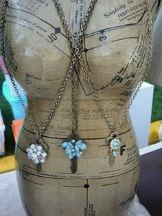 Jewelry display idea for necklaces
