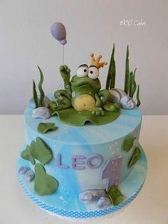 Cake Wrecks - Home - Sunday Sweets: Cute Baby Cakes Cake Wrecks, Baby Cakes, Cupcake Cakes, Aquarium Cake, Fisherman Cake, Pond Cake, Frog Cakes, Prince Cake, Safari Cakes