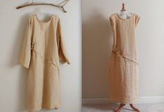 hanky linen rose chain dresses - handmade to measure by annyschooecoclothing