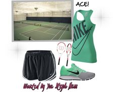 What Elly wears to play tennis with Maverick