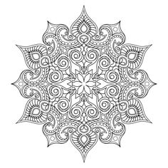 Mandala Madness Coloring Book - 5 printable PDF coloring pages Abstract Coloring Pages, Flower Coloring Pages, Mandala Coloring Pages, Coloring Book Pages, Coloring Sheets, Pattern Coloring Pages, Mandala Design, Mandala Pattern, Zentangle Patterns