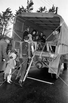 Bus strikes were a feature of life in Dublin in the Here, army lorries help get people to work. Irish People, History Photos, Photo Archive, More Photos, Dublin, 1960s, Ireland, Army, Fine Art