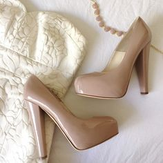 NWT Brian Atwood 'Power' pumps Brand new in box. Nude patent leather pumps with hidden platform in size 37. Heel measures approximately 5.5 inches with a 1.5 inch hidden platform. Comes with box and dust bag. Brian Atwood Shoes Heels
