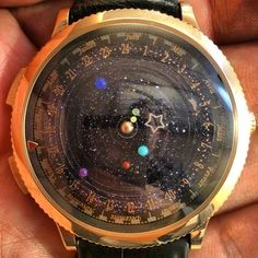 Okay, not WANT, but WOW.  The Midnight Planétarium watch not only tells time, but follows the orbit of our solar system's planets.ByVan Cleef & Ar...