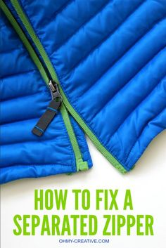 How to Fix a Separated Zipper - with this simple trick, using a common household product, it can be easy to repair a zipper with little effort!   OHMY-CREATIVE.COM