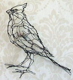 cardinal bird wire sculpture  A reminder that God even cares for the small creations in his world and provides for them