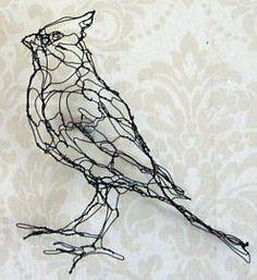 wire sculpture broad-shoulder hawk by wire art sculptor elizabeth berrien. Chicken Wire Art, Chicken Wire Sculpture, Bird Sculpture, Sculpture Projects, Art Projects, Sculpture Ideas, Art Fil, Photo Animaliere, 3d Prints