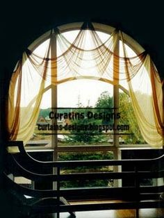 arched windows curtains on hooks, arched windows treatments More