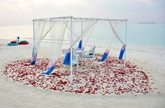 Romantic Proposal Dinner, perfect setting...She said Yes! at Four Seasons Resort Maldives Landaa Giraavaru