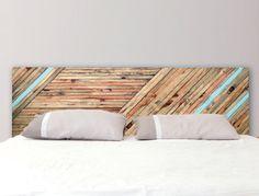 Headboard Color Ribbons Reclaimed Wood
