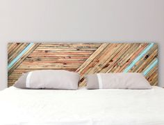 Headboard Reclaimed Wood Color Ribbons