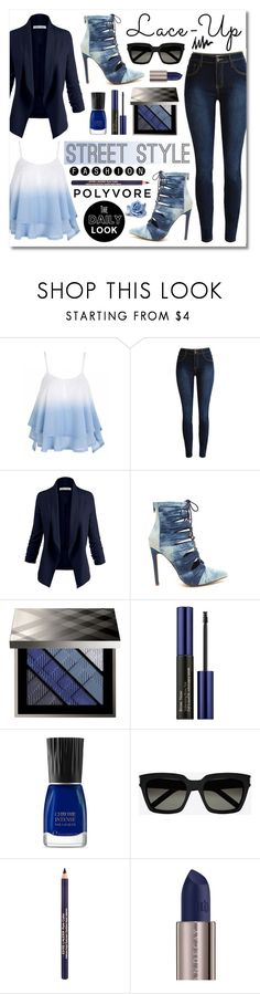 """Lace It Up"" by asiyaoves ❤ liked on Polyvore featuring Burberry, Estée Lauder, Yves Saint Laurent and Urban Decay"