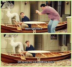 Like trading all of their furniture and appliances for this canoe… Even if it wasn't 100% voluntary. | 25 Moments When Joey And Chandler Won At Friendship