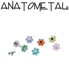 I need the turquoise for my tragus! - Threaded Flowers - ANATOMETAL - Professional Grade Body Piercing Jewelry