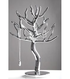 Silver tree jewellery stand 30cm jewelry display