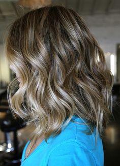 medium hair length. Love the color