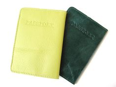 LEATHER PASSPORT HOLDER  Leather Passport by AmielLeatherDesign, $27.00