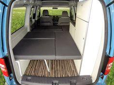 Mini Camper – VW Caddy Maxi de Reimo | Viaja en furgo - Alquiler de Furgonetas equipadas Camping y Autocaravanas en Asturias