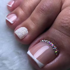 Toenail Polish Designs, Toe Nail Designs, Pretty Toe Nails, Summer Toe Nails, French Nail Designs, Fall Acrylic Nails, Feet Nails, Dream Nails, Fabulous Nails