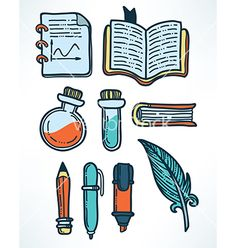 Education objects vector 4402222 - by tachyglossus on VectorStock®