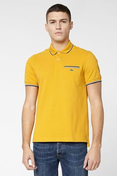 Lacoste L!VE Short Sleeve Semi Fancy Tipped Pique Polo With Pocket : L!VE