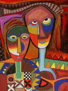 """Couple 2"" by Jimoh Buraimoh"