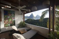 Tom also stayed at the Anse Chastanet hotel (pictured) - and it turned out that Prince Har...