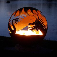 This spectacular fantasy themed dragon fire pit is sure to draw a crowd! Its powerful, encompassing wings surround the fire and every wicked detail comes alive. This is an intricate design made by Melissa Crisp! Own an original with this stunning work of art. Sculptural fire bowls by Melissa Crisp brings metal art to a whole new level and is the perfect choice in functional art for your backyard. Each fire pit is hand cut and has a numbered metal plate to assure that each fire pit is…