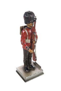 British Guard Lead Figurine -Rare Vintage Lighter