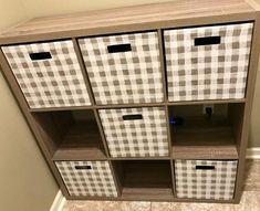"Fabric Cube Storage Bin White/Black Stripe 13"" - Threshold™ : Target Cube Storage, Storage Boxes, Storage Spaces, Locker Storage, Ikea Bins, Toy Store, Black Stripes, Cleaning Wipes, Shelves"