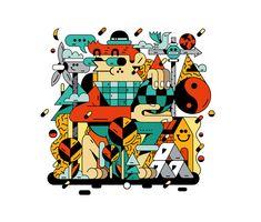 Illustrations and handpainted indoor murals for Footlocker and Mediacom, Footlocker, Adobe Illustrator, Appreciation, Murals, Behance, Indoor, Hand Painted, Illustrations, Gallery