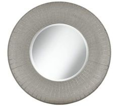 "Pounded Metal 35"" High Round Wall Mirror 