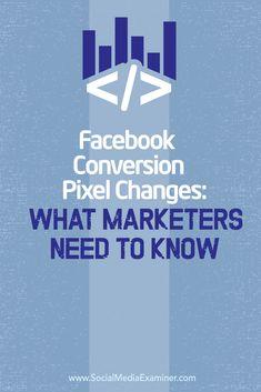 changes to facebook conversion pixel