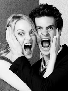 Andrew Garfield and Emma Stone... Kind of the most adorable thing besides kittens.