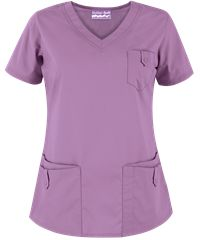Butter-Soft Scrubs by UA™ Women's Rounded V-Neck 5-Pocket Top