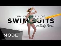 Videoclub – 100 años de trajes de baño: este picante 'body paint' te dejará con la boca abierta